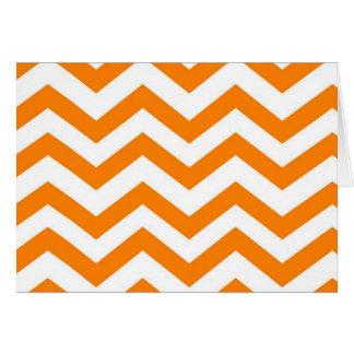 Chic Chevron Note Card- Sweet Tangerine Card