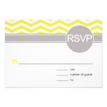 Chic Chevron RSVP | yellow Personalized Announcements