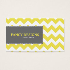 Chic Chevron Stripes Business Card at Zazzle