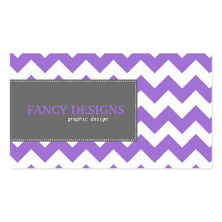 Chic Chevron Stripes Double-Sided Standard Business Cards (Pack Of 100)