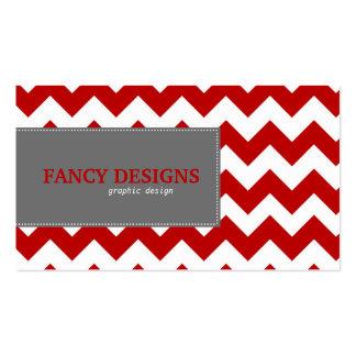 Chic Chevron Stripes Business Card Templates