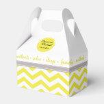 Chic Chevron | yellow grey white Wedding Favor Boxes
