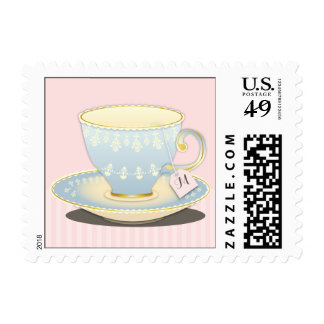 Chic China Teacup Personalized Tea Party Stamp