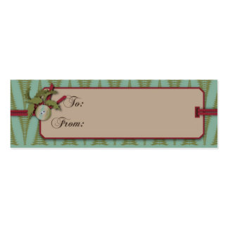 Chic Christmas Gift Tag Double-Sided Mini Business Cards (Pack Of 20)