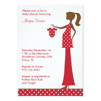 Chic Christmas Mom to Be Custom Announcements