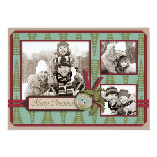 Chic Christmas Photo Card A6
