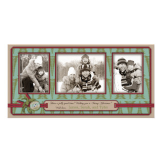 Chic Christmas Photo Card Trio