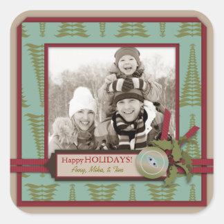 Chic Christmas Photo Sticker