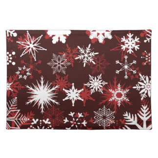 Chic Christmas snowflakes Placemat