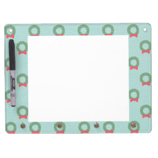 Chic Christmas Wreath Pattern Dry-Erase Whiteboards