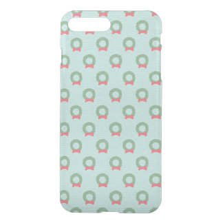 Chic Christmas Wreath Pattern iPhone 7 Plus Case