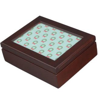 Chic Christmas Wreath Pattern Memory Box