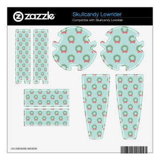 Chic Christmas Wreath Pattern Decals For Skullcandy