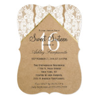 Chic & Classy White Lace, Gold, & Recycled Paper Card