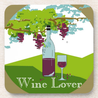 "CHIC COASTER SET_""WINE LOVER"""