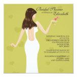 Chic Cocktail Bride Bridal Shower Invitation Green
