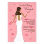 Chic Cocktail Bride Bridal Shower Invitation Pink