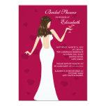 Chic Cocktail Bride Bridal Shower Invitation Red