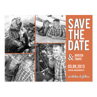 Chic Collage Save The Date Postcard