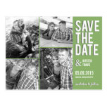 Chic Collage Save The Date Postcard Postcards