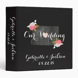 Chic Colorado State Modern Wedding Photo Album 3 Ring Binder