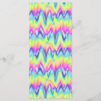 Chic Colorful Abstract Neon Chevron Pattern
