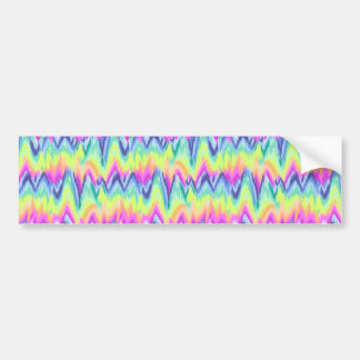 Chic Colorful Abstract Neon Chevron Pattern Bumper Sticker