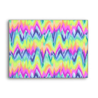 Chic Colorful Abstract Neon Chevron Pattern Envelope