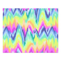 Chic Colorful Abstract Neon Chevron Pattern Flyer