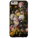 Chic Colorful Baroque Flowers Still Life Painting Barely There iPhone 6 Plus Case