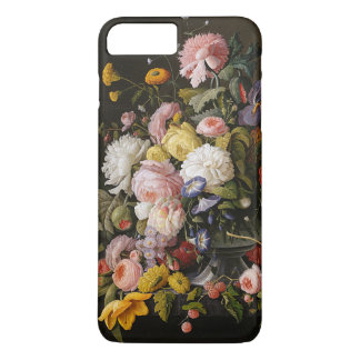 Chic Colorful Baroque Flowers Still Life Painting iPhone 7 Plus Case