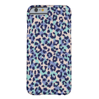 Chic colorful blue beige cheetah print monogram barely there iPhone 6 case