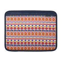 Chic colorful Ethno Pattern MacBook Sleeve