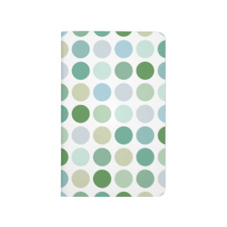 Chic colorful green polka dots pattern monogram journal
