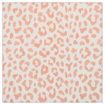 Chic colorful peach orange cheetah print pattern fabric
