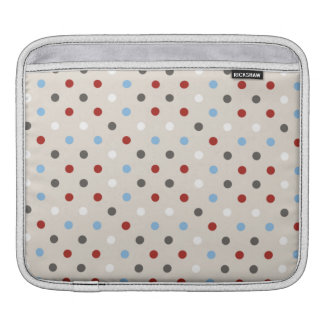 Chic Colorful Polka Dots Pattern iPad Sleeve