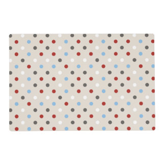 Chic Colorful Polka Dots Pattern Placemat