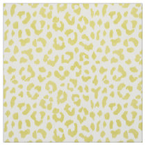 Chic colorful yellow cheetah print pattern fabric