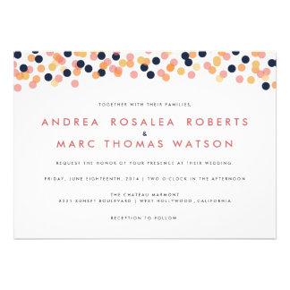 Chic Confetti Shower Wedding Invitations