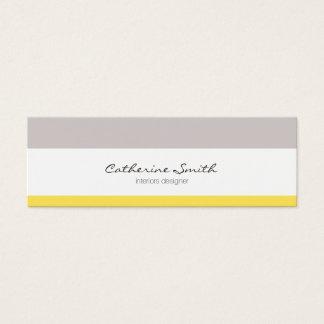Chic congregation yellow lines minimalist feminine mini business card