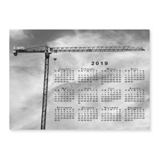 Chic Construction Crane Photo 2019 Calendar