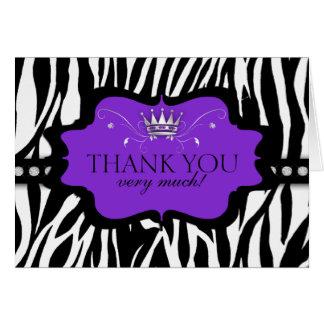 Chic Contemporary Zebra Thank You Cards