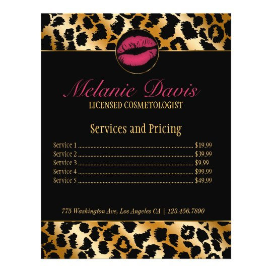 Chic Cosmetology Makeup Artist Flyer Zazzle