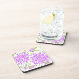 CHIC COSTER SET_PRETTY LILAC FLORAL BEVERAGE COASTER