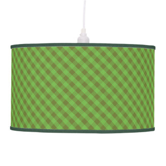 Chic Country-style Green Gingham Pendant Lampshade