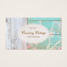 Chic Country Vintage Rustic Wood Boutique Business Card at Zazzle