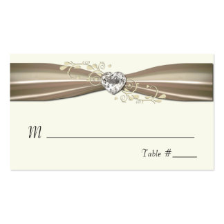 Chic Cream Formal Place Cards Business Card Template