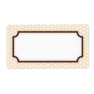 Professional Business Chic cream polka dot dots pattern blank label