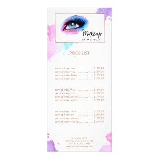 Chic Creative Watercolor Eye Makeup Artist II Rack Card
