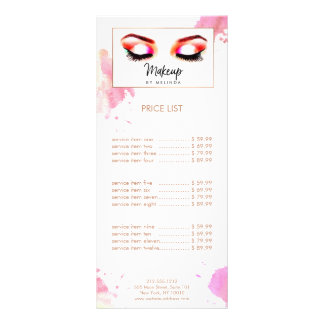 Chic Creative Watercolor Eye Makeup Artist III Rack Card